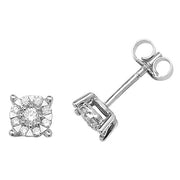 0.35ct Diamond Earring in 9K White Gold