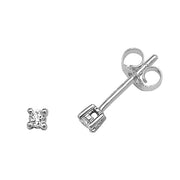 0.10ct Diamond Earring in 9K White Gold