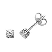 0.30ct Diamond Earring in 9K White Gold
