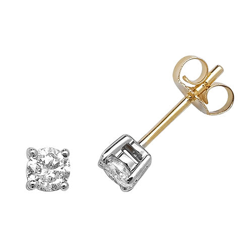0.50ct Diamond Earring in 9K Gold