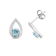 0.29ct Aquamarine Earring in 9K White Gold