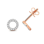 0.12ct Diamond Earring in 9K Rose Gold