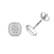 0.24ct Diamond Earring in 9K White Gold