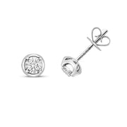0.17ct Diamond Earring in 9K White Gold