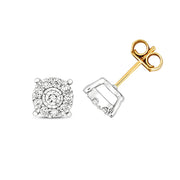0.41ct Diamond Earring in 9K Gold