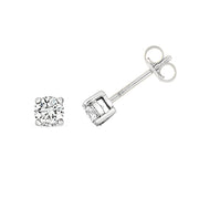 0.60ct Diamond Earring in 9K White Gold