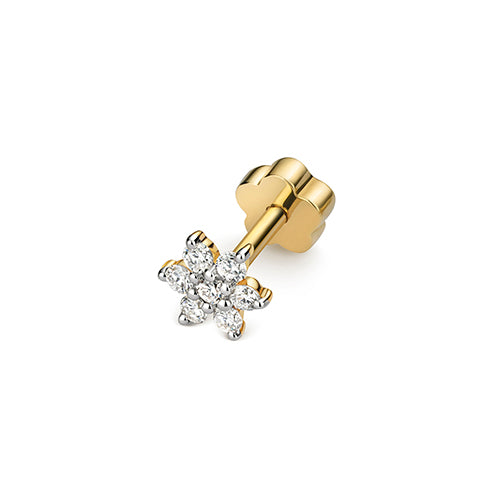 Diamond Earring in 9K Gold
