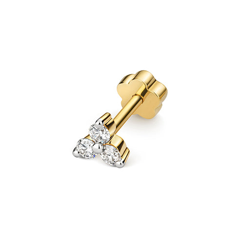 0.09ct Diamond Earring in 9K Gold
