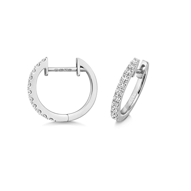 0.21ct Diamond Earring in 18K White Gold
