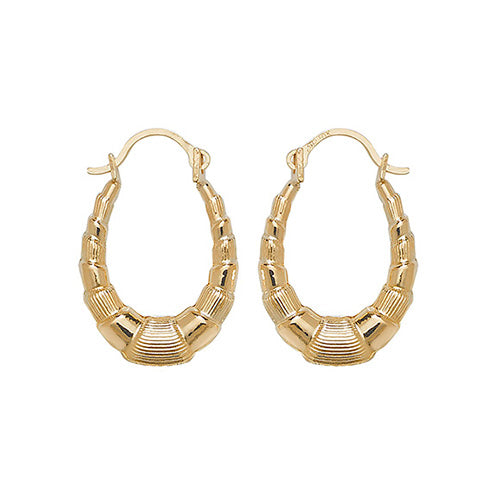 9K Yellow Gold Babies' Creole Earrings
