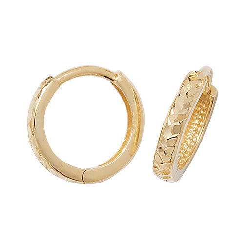 9K Yellow Gold Hinged Dc Earrings