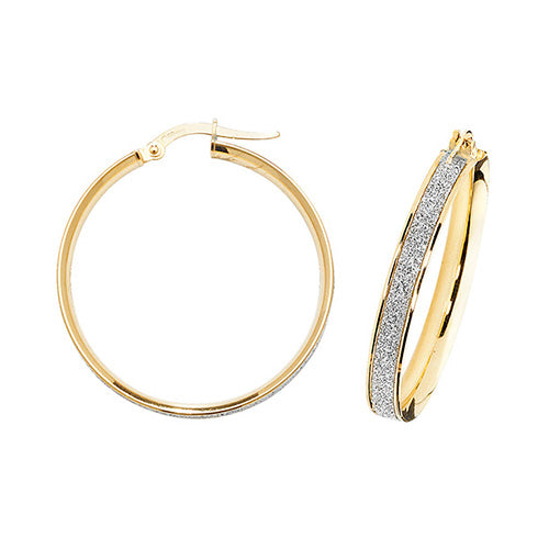 9K Yellow Gold 25mm Hoop Earrings