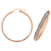 9K Rose Gold 30mm Hoop Earrings