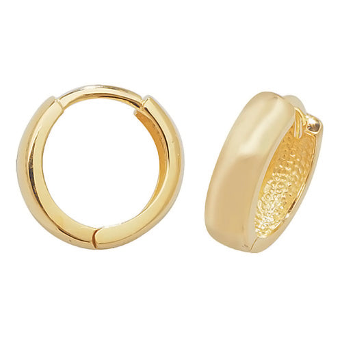 9K Yellow Gold Hinged Earrings