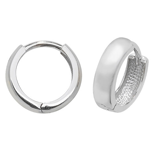 9K White Gold Hinged Earrings