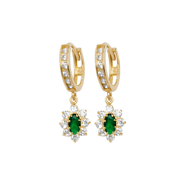 9K Yellow Gold Drop Earrings