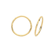 9K Yellow Gold 14mm Hinged Hoops