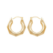9K Yellow Gold 10mm Creole Earrings