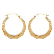 9K Yellow Gold 20mm Creole Earrings