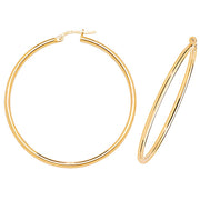 9K Yellow Gold 40mm Hoop Earrings
