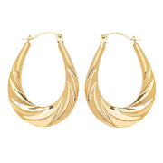 9K Yellow Gold Creole Earrings