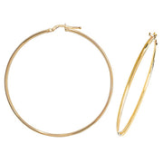 9K Yellow Gold 50mm Hoop Earrings