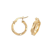 9K Yellow Gold 10mm Hoop Earrings