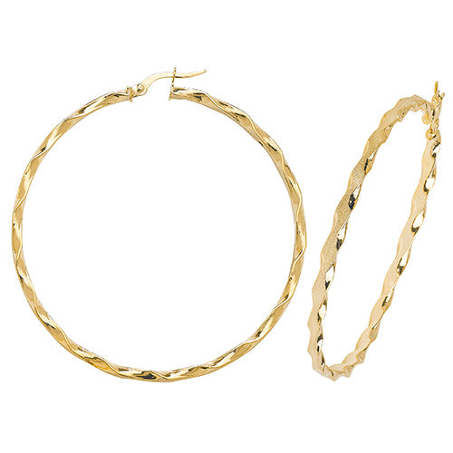 Hoop Earrings in 9K Gold