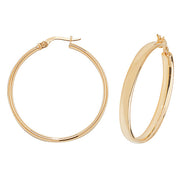 9K Yellow Gold 30mm Hoop Earrings