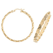 9K Yellow Gold 35mm Hoop Earrings