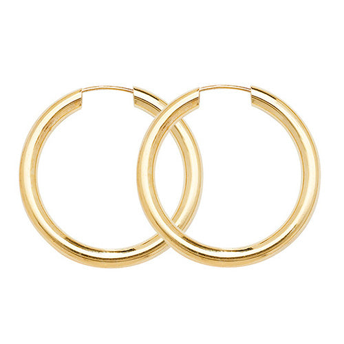 9K Yellow Gold 20mm Sleepers