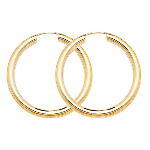 9K Yellow Gold 25mm Sleepers