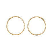 9K Yellow Gold 14mm Hinged Sleepers