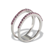 Garnet Ring in Sterl.Silver 0.71ct
