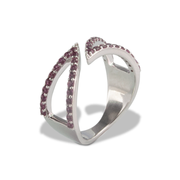 Garnet Ring in Sterl.Silver 0.82ct
