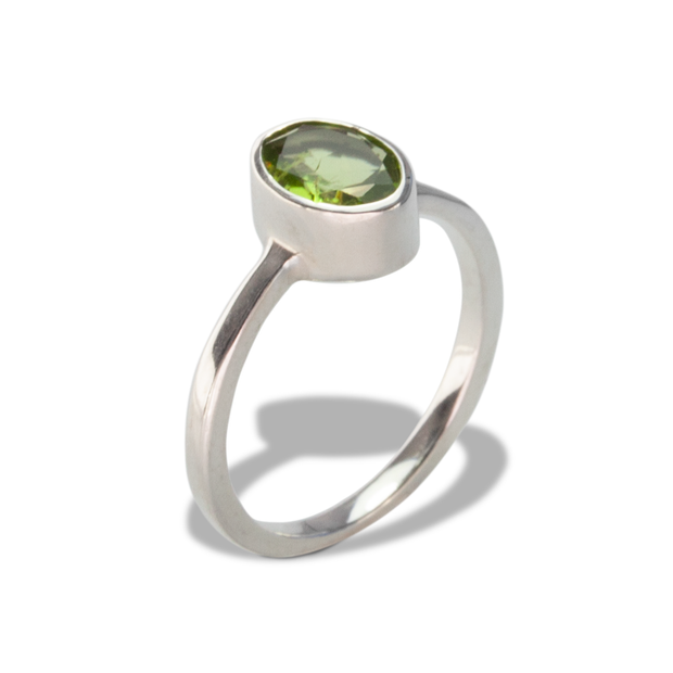 Peridot Ring in Sterl.Silver 0.98ct