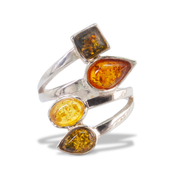 Amber Ring in Sterl.Silver 0.92ct