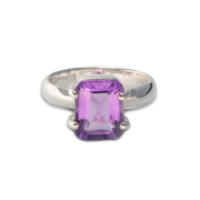 Amethyst Ring in Sterling Silver 2.93ct