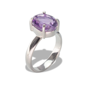 Amethyst Ring in Sterl.Silver 4.14ct