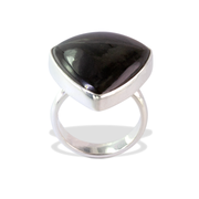Gold Obsidian Ring in Sterl.Silver 19.03ct