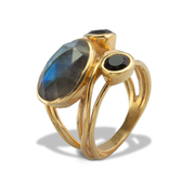 Labradorite Ring in Vermeil 5.17ct
