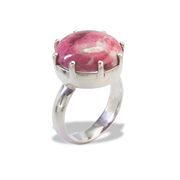Thulite Ring in Sterl.Silver 13ct