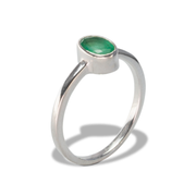 Emerald Ring in Sterl.Silver 0.38ct