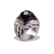 Amethyst (> 7ct) Ring in Sterl.Silver 30ct