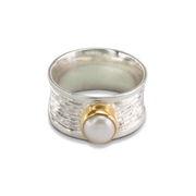 Pearl Ring in GoldPlStSlvr 3.52ct