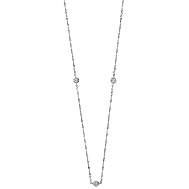 0.21ct Diamond Necklace in 9K White Gold