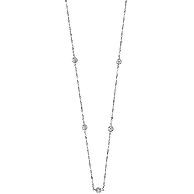 0.35ct Diamond Necklace in 9K White Gold