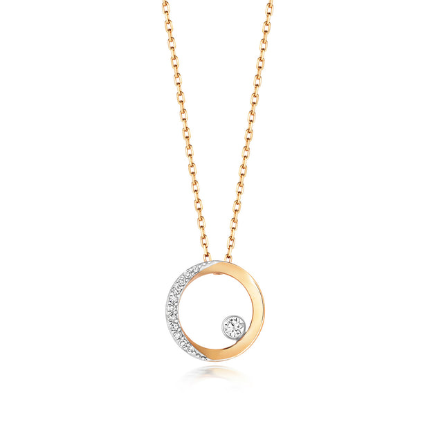 0.06ct Diamond Necklace in 9K Gold