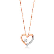 0.06ct Diamond Necklace in 9K Rose Gold