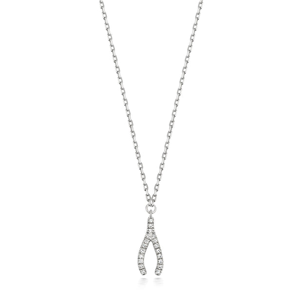 0.04ct Diamond Necklace in 9K White Gold